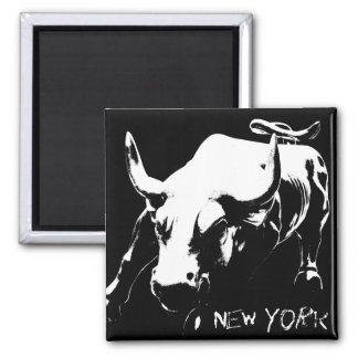 New York Fridge Magnets Bull Statue NYC Souvenirs