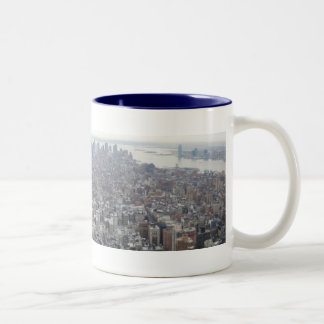 New York from the Empire State Building Two-Tone Coffee Mug