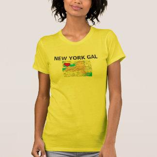 New York Gal Map Women's Jersey T-Shirt