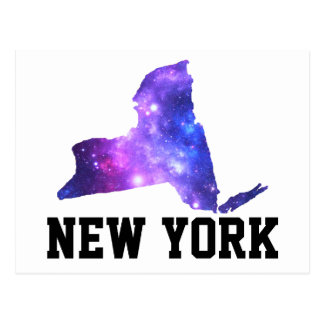New York Galaxy Empire State Postcard