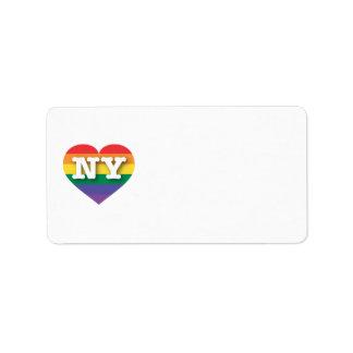 New York Gay Pride Rainbow Heart - Big Love Label
