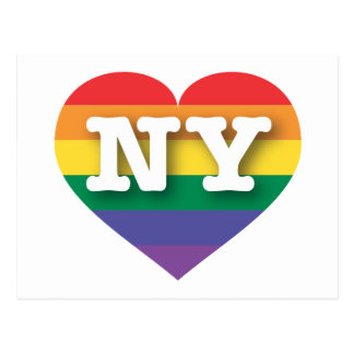 New York Gay Pride Rainbow Heart - Big Love Postcard