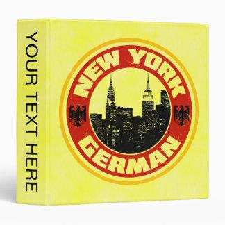 New York German American Binder