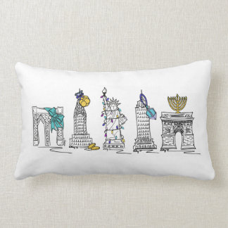New York Hanukkah Chanukah NYC Landmarks Pillow