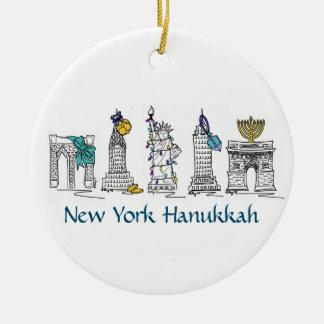 New York Hanukkah Holiday Ornaments