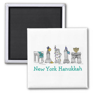 New York Hanukkah NYC Chanukah Holiday Gift Magnet