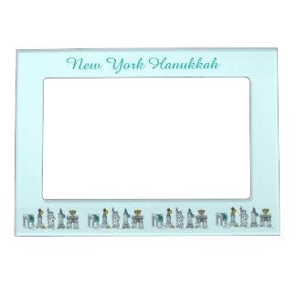 New York Hanukkah NYC Landmarks Chanukah Holiday Magnetic Picture Frame