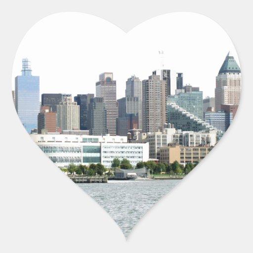 New York Harbor Heart Stickers