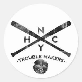 New York hardcore Round Sticker