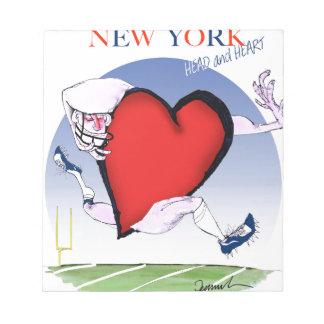 new york head heart, tony fernandes notepad