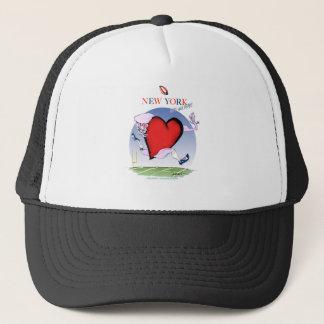 new york head heart, tony fernandes trucker hat