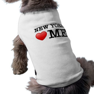 New York heart me Doggie Tshirt