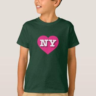 New York Hot Pink Heart - Big Love T-Shirt