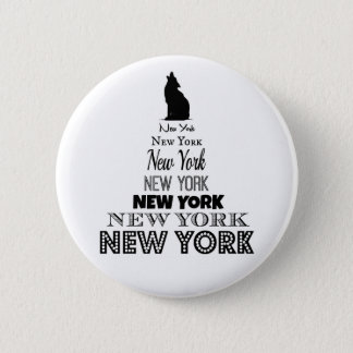 New York Howling, Dog Coyote, Wolf - I love NY 2 Inch Round Button