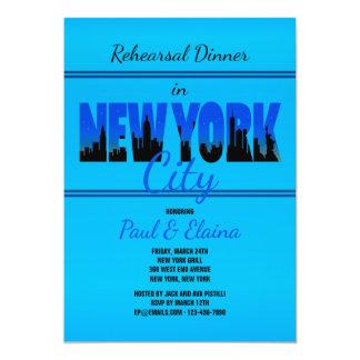 New York in Blue Invitation