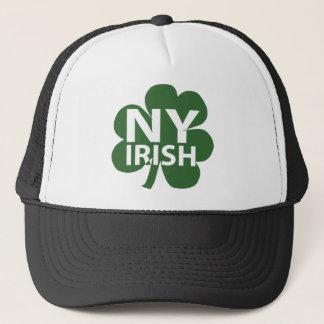 New York Irish Shamrock Trucker Hat
