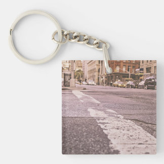 new york square acrylic key chain