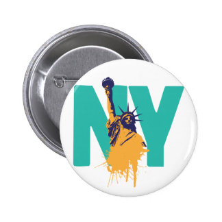 New York Lady Liberty 2 Inch Round Button