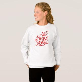 New York lettering design. Big apple. NYC. Sweatshirt