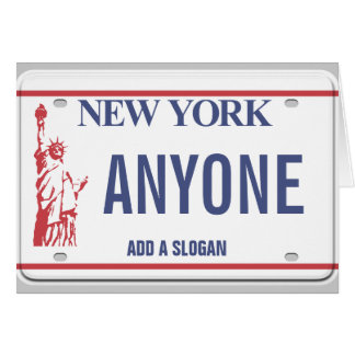 New York License Plate (personalized) Card