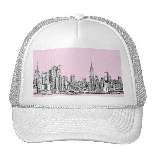 New York light pink Mesh Hat
