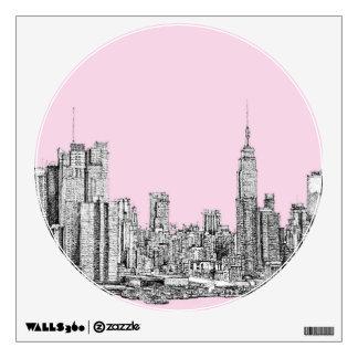 New York light pink Wall Sticker