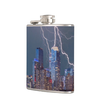 New York Lightning Storm Flasks