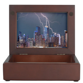 New York Lightning Storm Memory Box