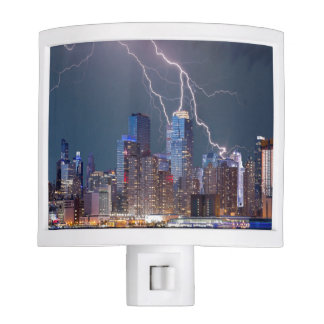 New York Lightning Storm Night Lite