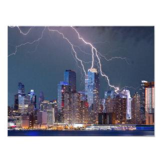 New York Lightning Storm Photographic Print