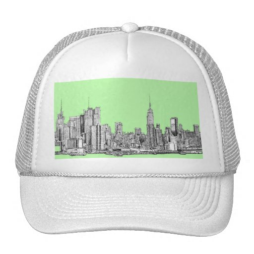 New York lime green Hats