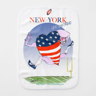new york loud and proud, tony fernandes burp cloth