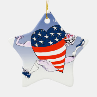 new york loud and proud, tony fernandes ceramic star ornament
