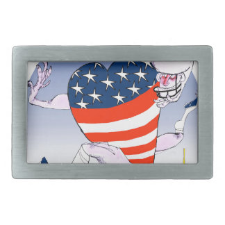 new york loud and proud, tony fernandes rectangular belt buckle