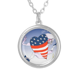 new york loud and proud, tony fernandes silver plated necklace