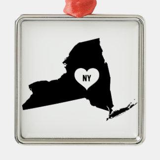 New York Love Metal Ornament