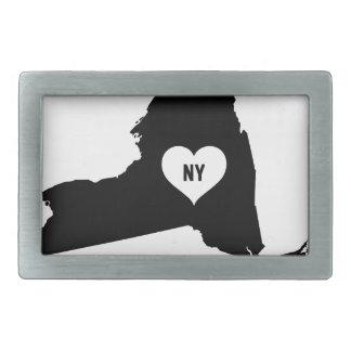 New York Love Rectangular Belt Buckle