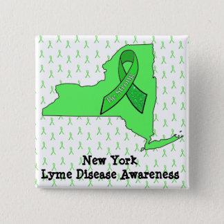 New york Lyme Disease Awareness button