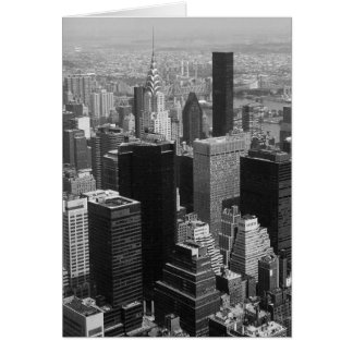 New York, Manhattan Black and White Greeting Card