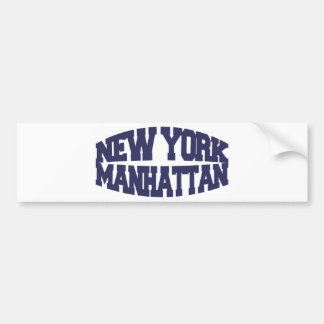New York Manhattan Bumper Sticker