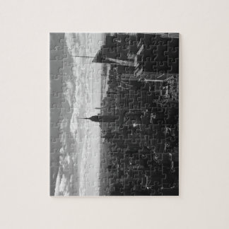 New York Manhattan Empire State Jigsaw Puzzle B&W