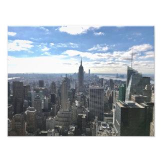 New York Manhattan Empire State Photo Print