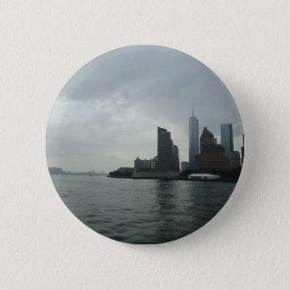 New York Manhattan Hudson River Gift 2 Inch Round Button