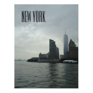 New York Manhattan Hudson River Gift Postcard