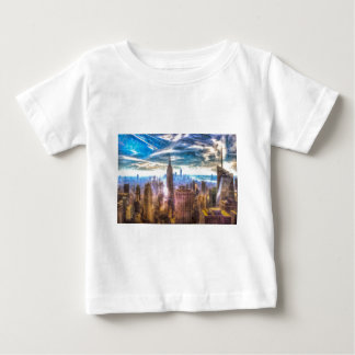 New York Manhattan Skyline Art Baby T-Shirt