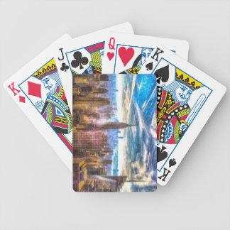 New York Manhattan Skyline Art Bicycle Playing Cards