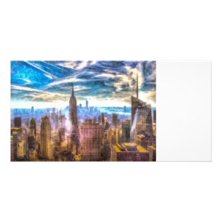 New York Manhattan Skyline Art Card