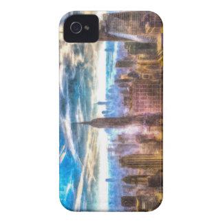 New York Manhattan Skyline Art iPhone 4 Case