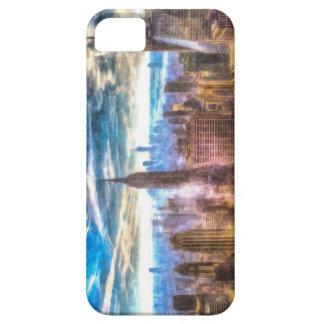 New York Manhattan Skyline Art iPhone 5 Cases