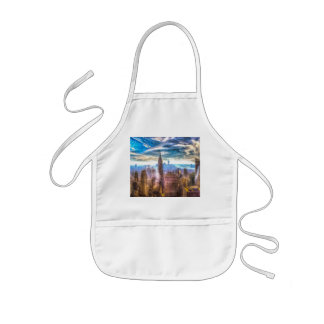 New York Manhattan Skyline Art Kids Apron